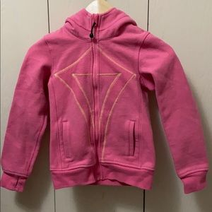 Ivivva Pink Hoodie with Yellow Stitching